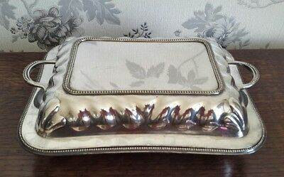 A Vintage Silver Plated Entrée Dish by William Briggs & Co