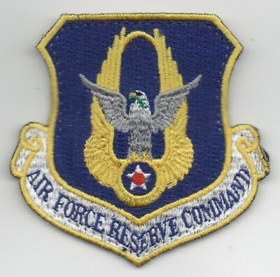 "USAF Patch AIR FORCE RESERVE COMMAND, 3"" Flight Suit size, Hook Side Backing,"