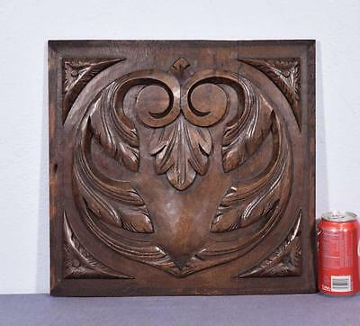 *Antique French Renaissance Revival Panel in Solid Oak Wood with Heart Design
