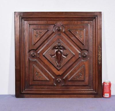 *French Antique Solid Walnut Carved Cabinet Panel/Door Salvage 2