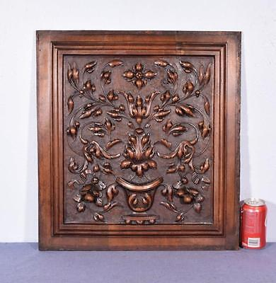 *French Antique Highly Carved Renaissance Revival Panel/Door in Walnut Wood