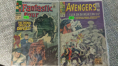 Fantastic Four  #58 and Avengers #14 Nice 2 Book Silver Age lot Dr. Doom Thor