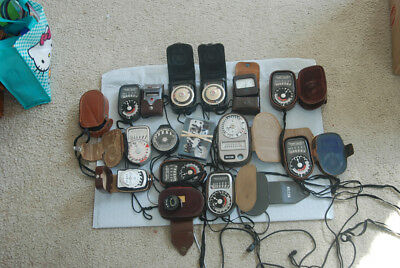 Huge lot of light meters for canon nikon Leica Rolleiflex Hasselblad