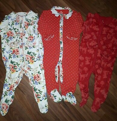 baby girls next sleepsuits 3/6 months