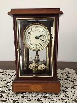 Rare Gebr/Junghans 400 Day 4 glass,3 door, Anniversary Torsion Clock c1910