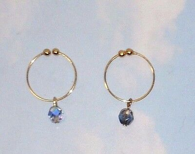 The New Gold Tone   Non Piercing  Nipple Ring Jewelry
