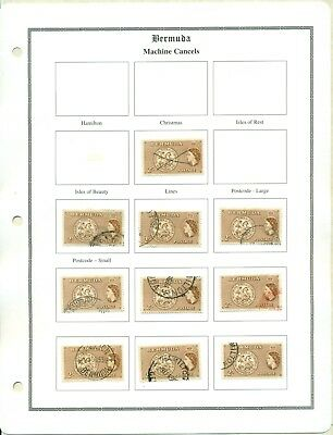 Lot 852 Bermuda 1952 Series 2/- Town Cancels On Bermuda  Specialized Pages New