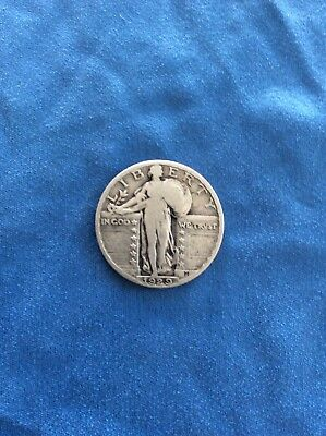 1929 Standing Liberty Quarter silver coin Free Shipping