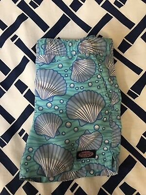 Vineyard Vines Boys Swim Trunks Aqua Shell In 4T