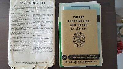 New Scouters Working Kit Canadian Boy Scouts 1953 booklet policies rules vintage