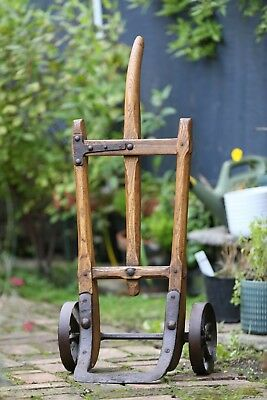 Rare Antique Single Handle Sack Barrow / Railway Porters Hand Cart Trolley