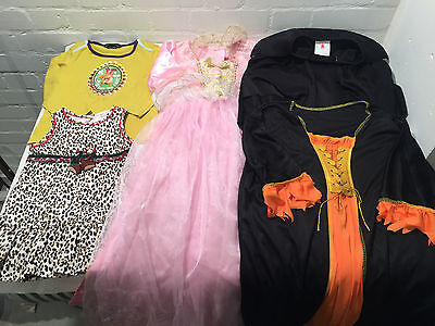 Lot Of 5 Girls Princess / Festive Dress Up Outfits For Halloween / Xmas - Vr
