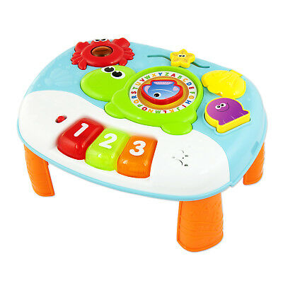 2 in 1 Ocean Fun Activity Center Toddler Toy Flashing LIghts and Tunes Keyboard