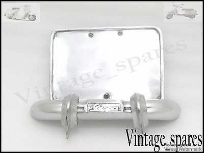 Brand New Vespa Rear Number Plate Holder And Bumper