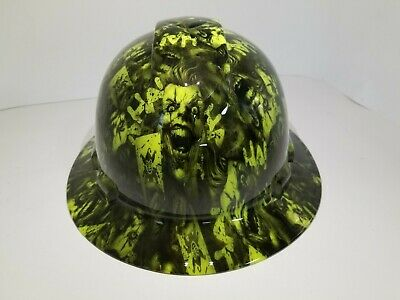 FULL BRIM Hard Hat custom hydro dipped , NEW FULL COLOR JOKER HARLEY NEW
