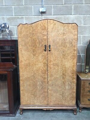 Vintage Walnut Double Wardrobe French Style Shabby Chic