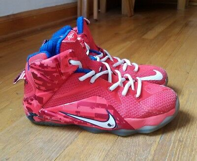 Boy's Youth NIKE LEBRON XII 12 GS Athletic Basketball Shoes 685181 SIZE 6Y US