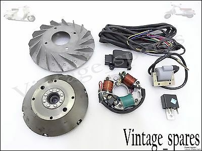 New Vespa Vbb Vba Vna Super Sprint 6V To 12V Stator+Flywheel Conversion Kit