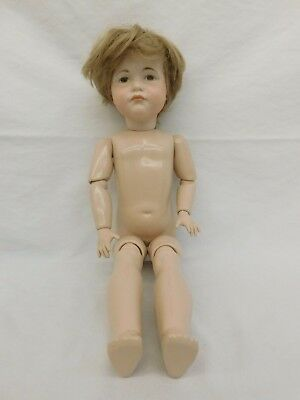 """Real Seeley 20"""" Jointed Doll Body Bisque Head K & R 114 60 Blonde Carol Thompson"""