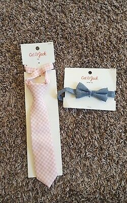 Cat And Jack Boys Tie And Bow Tie Bnwt