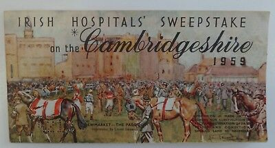 IRISH SWEEPSTAKE TICKETS book of 12 from 1959 Cambridgeshire