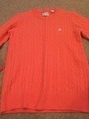 Jack Wills ladies cable Jumper size 12 in orange