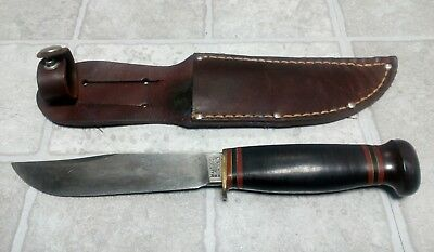 Vintage MARBLES Gladstone Mich USA made, Fixed Blade Hunting Knife Skinning