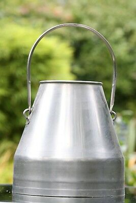 Lovely Shape Vintage Swedish Stainless Steel 5 Gallon Milk Churn