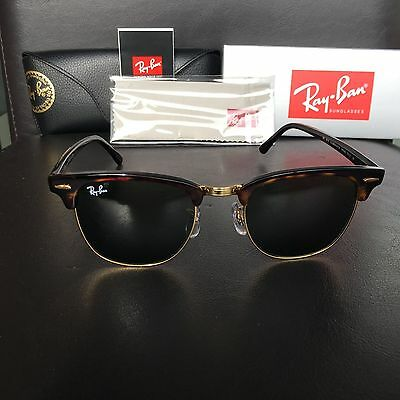 d2022d375c NEW RAY BAN Clubmaster Sunglasses RB3016 W0366 Tortoise Frame 51mm ...