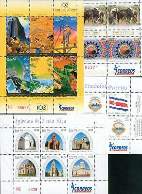 Costa Rica 4 s´sheets ** MNH from 2006-2009 Blocks hv35