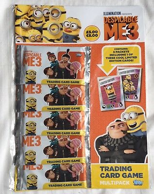Despicable Me 3 ~ Topps Trading Card ~ Multipack - 5 Packs Inc Limited Edition
