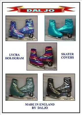 Ice Skating / Roller Skating  Lycra Hologram Boot Covers H2