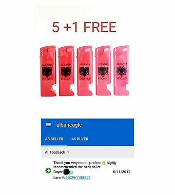 5 + 1 FREE lighters opener bottle 'ALBANIAN FLAG'