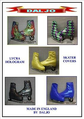 Ice Skating / Roller Skating  Lycra Hologram Boot Covers H3