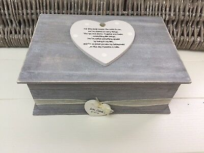 Shabby RUSTIC Chic LARGE Box For Bridesmaid Maid Honour Wedding Day personalised