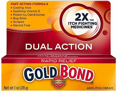 Gold Bond Rapid Relief Anti-Itch Cream 1 oz (Pack of 2)