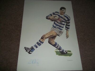 """Rare Vintage Poster 16 1/2 X 11 1/2"""" Les Holliday Halifax Rugby League 1989"""