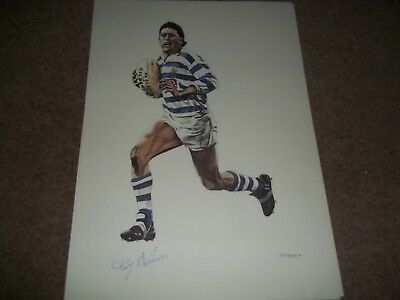 """Rare Vintage Poster 16 1/2 X 11 1/2"""" Tony Anderson Halifax Rugby League 1989"""