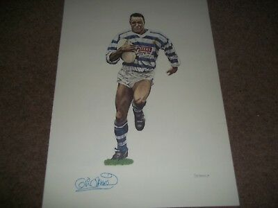 """Rare Vintage Poster 16 1/2 X 11 1/2"""" Colin Atkinson Halifax Rugby League 1989"""