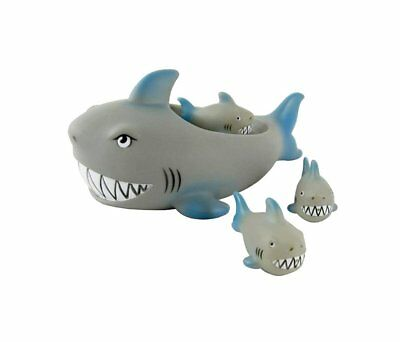 Floating Bath Tub Toy Playmaker Toys Rubber Shark Family Bathtub Pals Set of 4