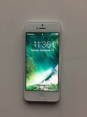Apple iPhone 5 Silver 16gb Used (Factory Unlocked)GSM Smartphone 4G LTE