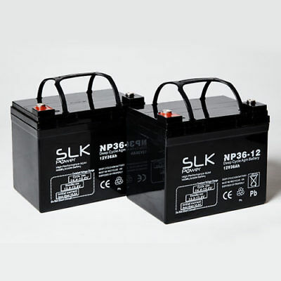 2 x 12V 36AH MOBILITY SCOOTER BATTERIES - ROMA SHOPRIDER CADIZ MOBILITY SCOOTER