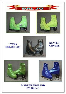 Ice Skating / Roller Skating  Lycra Hologram Boot Covers No H6