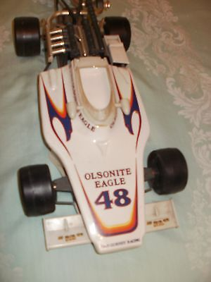 Vintage 1975 Jim Beam Olsonite Eagle #48 Indy Racecar Decanter (NYS Liquor Seal)