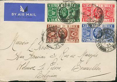 GB UK Michel Nr. 189-192 on rare FDC from 7.5.1935 hm85