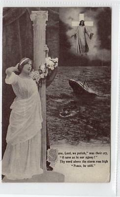 Picture postcard commemorating the Titanic disaster (C29817)