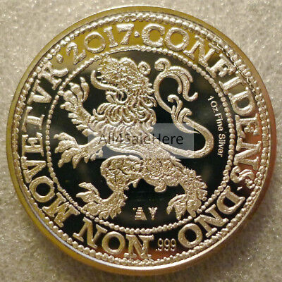 2017 Niue $1 1 oz Silver Czech Lion Coin BU (First, Only 10K Minted) *In Stock*