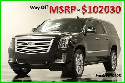 2017 Cadillac Escalade MSRP$102030 4WD Platinum 4 DVD Sunroof Black GPS 4 New AWD Heated Cooled Leather GPS Navigation 15 16 2016 17 22 In Rims 6.2L V8