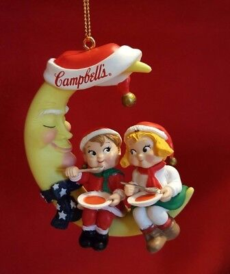 Campbell's Soup kids Dinner on Moon Christmas Ornament 1996