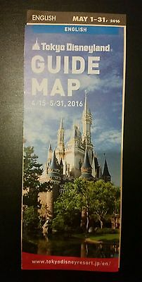 Tokyo disneyland and disneysea resort park map 2016 English
